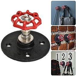 Gancho de Pared Retro de Metal, Ganchos para Casa Cocina, Dormitorio Perchero Sombrero/Toalla, Estilo Industrial Vintage Industrial Pipe Hooks (1 PCS)