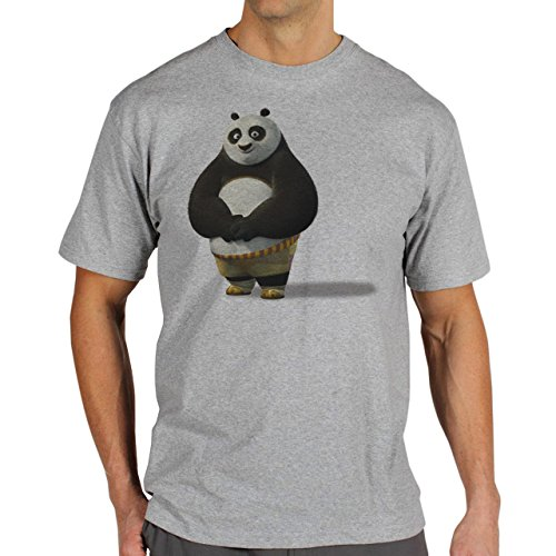 Kung Fu Panda 3 Smilling Panda Background XXL Herren T-Shirt (Kung Fu Panda Outfit)