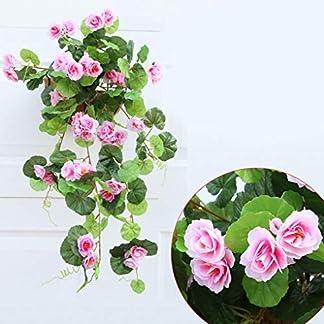 Fgyhty Flores Artificiales de Seda de la Begonia de Vid Flores Colgantes Planta de Vid de Bricolaje Garland Inicio