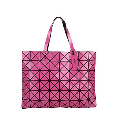 FZHLY Signore Laser Fashion Bag Geometrica Lingge Borsa,Pink Rose