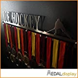 MEDALdisplay Ice Hockey | Porta medaglie Hockey/Medagliere da Parete per Hockey Medal Hanger (600 mm x 100 mm x 3 mm)