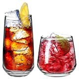 Argon Tableware 'Tallo' 12 Piece Hiball & Tumbler Glasses. Everyday Glassware Set - 480ml, 345ml