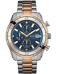 Guess  W0746G1 - Reloj de lujo para hombre, color azul / dorado