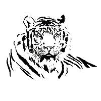 TOOGOO(R) Tiger Sticker Wall Art Bedroom, Kitchen Sticker WA16 - Black