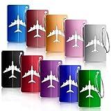YOCZOX Viaggio bagagli Tag, Valigia bagagli Bag Tag ID viaggio borsa Tag Airlines bagagli etichette, Viaggio Holiday Deposito bagagli Tag - 10 pezzi (Colore diverso)