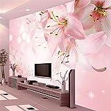 Hwhz Individuelle Fototapeten Wandmalerei Moderne Kunst Romantische Minimalistische Wohnzimmer Sofa Blumen Lilie Große Wandbild Papierrollen-150X120Cm