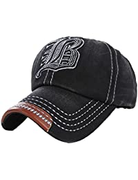 4sold Cotton embroidered Baseball Cap Snapback Trucker Hat Distressed Vintage
