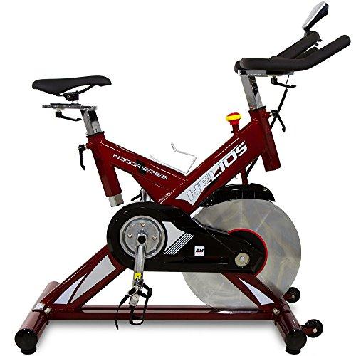 BH Helios Bicicleta ciclismo indoor. Volante inercia 22Kg - Uso Intensivo - Roja - H9178FD