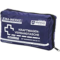 Leina Werke 11049 KFZ-Verbandtasche Compact mit Warnweste Ecoline ohne Klett, Blau/Weiß preisvergleich bei billige-tabletten.eu