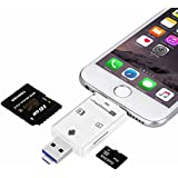 [Neuerscheinungen] Flash-Drive Smart Kartenleser High Speed Lightning Micro SD Card/USB/SDHC/TF/OTG 5-in-2 USB Flash-Drive für iPhone iPad PC und Android von Okapia(weiß)