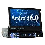 Android 6.0 Sinlge 1DIN Lecteur DVD de voiture Quad-core 2G RAM + 16G ROM Radio stéréo Dash panneau amovible 7 pouces écran tactile numérique Autoradio Unité principale support de navigation GPS Bluetooth WIFI Télécommande par EinCar