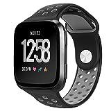 PUGO TOP Versa Ersatz-Uhrenarmband, weiches Silikon Sport-Band, verstellbares Armband für Fitbit. Smart Fitness-Uhr