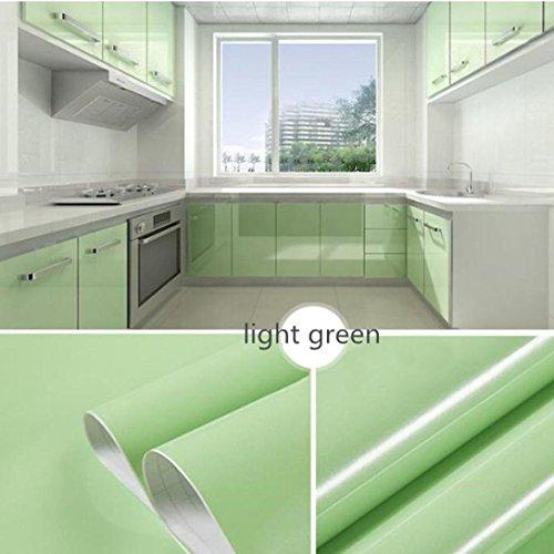 OHQ Pegatina De Pared Adhesivos Pintura Autoadhesiva De PVC Brillante 13 Tipo Color Brillante Muebles Restaurados Pegatinas ExtraíBle Papel Tapiz DecoracióN Del Hogar (Verde#2)