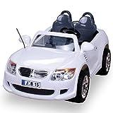 Kinder Elektroauto 2-Sitzer B15 mit 2 x 45 Watt Motor EXTRA GROß Elektro Kinderauto Kinderfahrzeug (weiss)