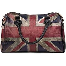 Bowling Tasche Union Jack Handtasche im Großbritannien Vintage Design Damen