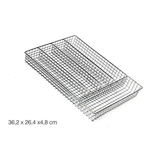KB8 - Range-couverts 5 cases en fil métal chromé*