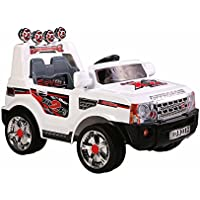 kIDS 2015 NEW DESIGN , 12V + 2x MOTORS RANGE ROVER STYLE KIDS RIDE ON RECHARGEABLE JEEP+REMOTE CONTROL 4 COLORS (WHITE)
