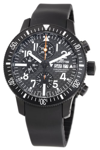 Fortis-Herren-6382871K-B-42-Official-Kosmonauten-Automatic-Chronograph-Black-Dial-Uhr