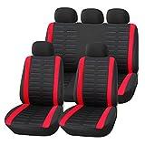 Best Cubiertas de coches Honda - upgrade4cars Fundas Asiento Coche Universal Negro Rojo | Review