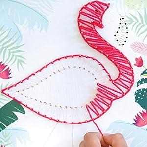 Unbekannt aladine 47205-Hilos de Flamingo Juego de Manualidades