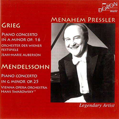 Preisvergleich Produktbild Menahem Pressler Spielt Grieg und Mendelssohn