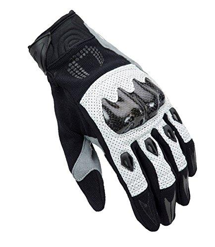 Handschuhe Sommer-Unik x-4Wirkungsgrad schwarz/weiß mit Carbon-Protektoren XXL Schwarz/Weiß
