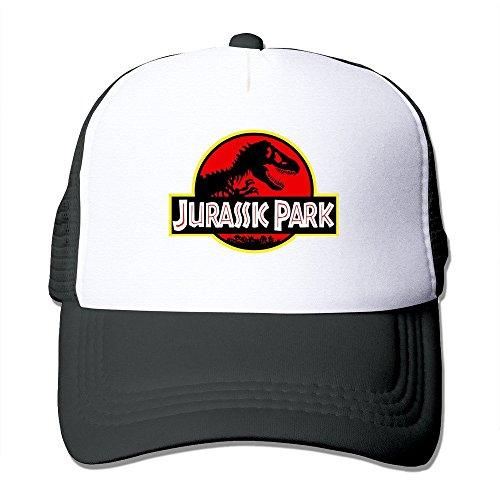 Hittings New Arrival Adult Unisex Jurassic Park Original Logo 100% Nylon Mesh Caps One Size Fits Most Adjustable Baseball Cap Black
