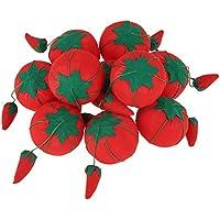 5 cm 10 Pcs Tricoté Tomate Coussin de Coussin à Épingles, Broches Support d'Aiguilles à Coudre pour Couture