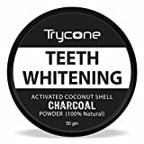 #2: Trycone Coconut Shell Activated Charcoal Instant Teeth Whitening Powder,SLS and Fluoride Free,100% Natural - 50 Gm
