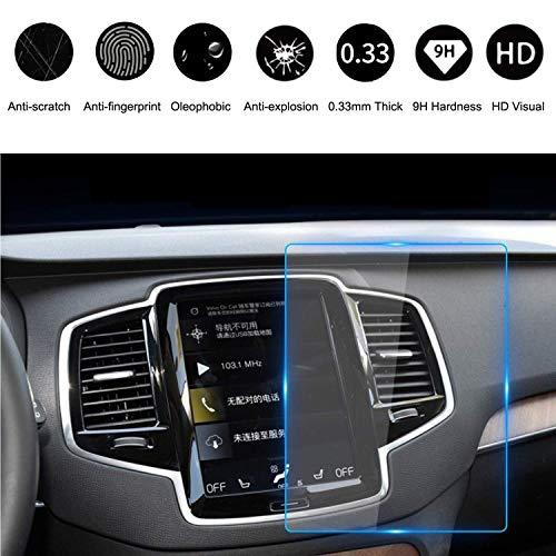 HiMoliwa 2017-2019 Volvo Navigations-Displayschutzfolie für V90 XC40 XC60 XC90 S90 22,9 cm, Kratzfest, Ultra HD in-Dash Klares gehärtetes Glas, 9H Härte 0,33 mm Dicke Navigation Screen Protector
