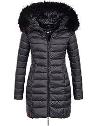 Marikoo ROSE-110 Damen Mantel Jacke Steppjacke Winterjacke lang gesteppt  Übergang XS-XXL 12 f77f16480e