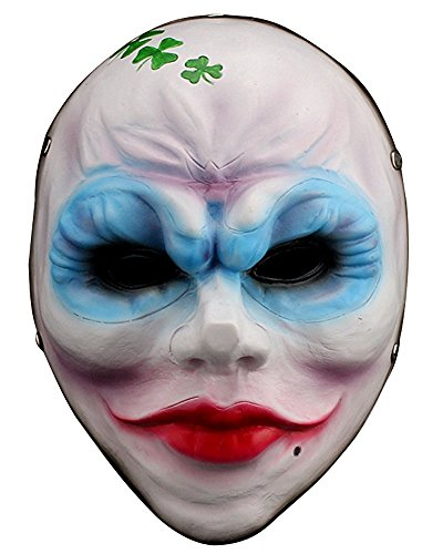 ShallGood Unisex Halloween Kostüm Maske Latex Maske Cosplay Lustig Horrible Stil Alle Heiligen Tag Anime Maske Scary Kaninchen Clown Monster #8 One (Köpfe Scary Clown)