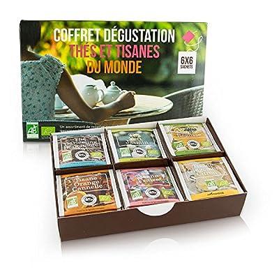 Coffret Thés et Tisanes du monde - BIO - 6x6 sachets - Coffret cadeau