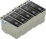5 schwarz Skia kompatible Tintenpatronen als Ersatz für Epson 27 XL T 2711 2712 2713 2714 Workforce WF 3620 DWF 3640 DTWF 7110 DTW 7610 7620 TWF
