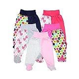 TupTam Unisex Baby Hose mit Fuß Bunte Strampelhose 5er Pack, Farbe: Mädchen, Größe: 80