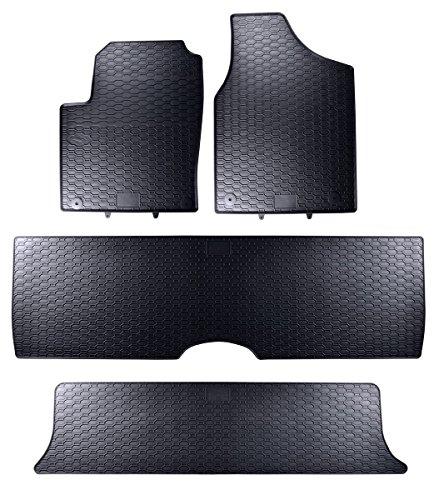 Tapis de sol sur mesure pour 1199107210011 set de 4 tapis de voiture noir