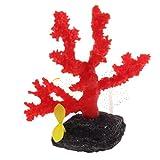 Aquarium Dekoration Leuchtende klare Aquarium-Korallen-Verzierung-glühende Anlage für Fisch-Behälter-Dekoration Aquarium-Verzierung (Farbe : Red, Größe : Height:13cm)