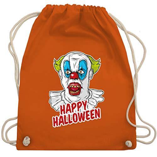 Halloween - Happy Halloween - Clown - Unisize - Orange - WM110 - Turnbeutel & Gym Bag (Furchterregende Clown Kostüm)