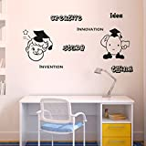 'Home Decor' Decorative 'Wall Stickers For Bedroom Kitchen'(Creative Study PVC Vinyl,61 CM X106 CM)
