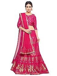 Styles Closet Silk Jacquard Lehenga Choli(Pink)