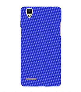 PrintVisa Corporate Print & Pattern Blue Dots 3D Hard Polycarbonate Designer Back Case Cover for Oppo F1