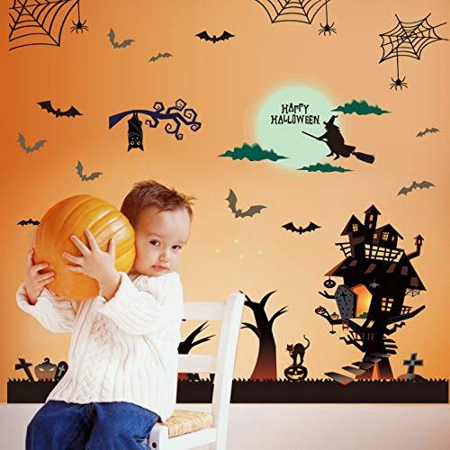 (Wandtattoo kinderzimmer aufkleber kinder tieren küchen wanddeko Halloween Haunted House Bar Wandaufkleber Fensterglas Wandaufkleber Steuern Dekor Wohnzimmer Wandbild)