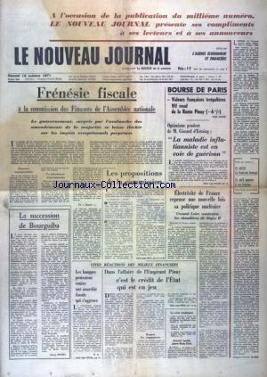 NOUVEAU JOURNAL (LE) [No 1000] du 16/10/1971