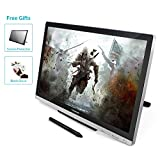 Huion GT-220 V2 Silber Grafiktablet mit Display 21.5 Inch Interaktive Zeichnung Monitor Display IPS Panel HD Auflösung (1920x1080)