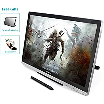 HUION GT-220 v2 Silver Pen Display 21.5 Inch IPS Tablet Monitor with Enhanced Linearity and Accurate Cursor Positioning for Mac and PC