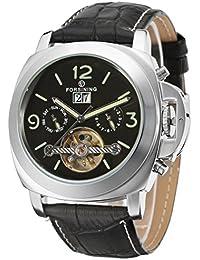 7659917d2edbbb Forsining FSG005M3S2 fantastico orologio da polso per uomo con calendario  automatico e cinturino in pelle