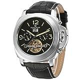 Forsining FSG005M3S2 Reloj de pulsera para hombre, automático, correa de piel, incluye calendario