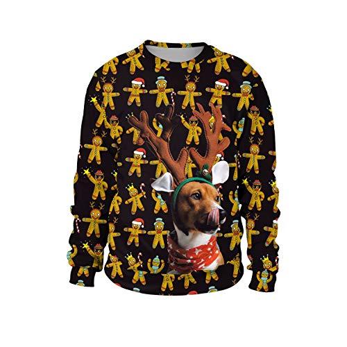 U LOOK UGLY TODAY Unisex Sweatshirt 3D Druck Pullover Weihnachtpullover Hoodie Langarm Bunte Rundhals Sweatjacke für Damen und ()