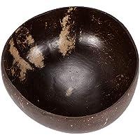 Powstro Cuenco de cáscara de coco natural Cuencos de coco 100% ecológicos Cuencos de helado libres de plástico hechos a mano Cuencos de decoración de obras de arte