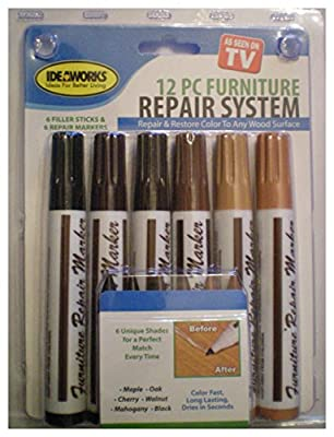 12 Piece Total Furniture Repair System (6 Repair Markers And 6 Filler Sticks) produced by Jobar - quick delivery from UK.